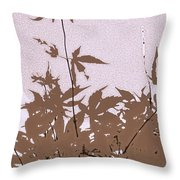 Lavender And Taupe Haiku Throw Pillow