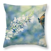 Lavender And The Butterfly Throw Pillow