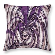 Lavender Bead Art Throw Pillow