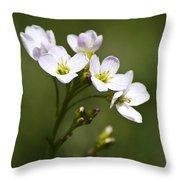 Lavender Blush Cuckoo Flower Throw Pillow