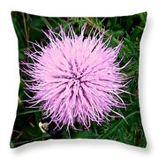 Lavender Bumble 2 Throw Pillow
