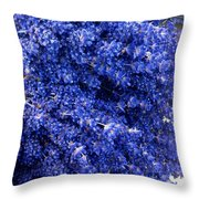 Lavender Bunch Flowers Throw Pillow
