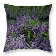 Lavender Bundles Throw Pillow