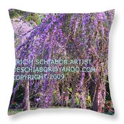 Lavender Butterfly Bush Throw Pillow