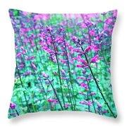 Lavender Color Flowers Throw Pillow