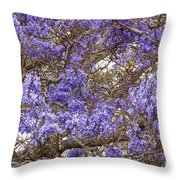 Lavender-colored Tree Blossoms Throw Pillow