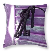 Lavender Cottage Keys Throw Pillow