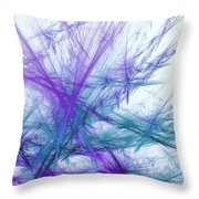 Lavender Crosshatch Throw Pillow