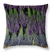 Lavender Drying Rack Throw Pillow