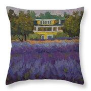 Lavender Farm On Vashon Island Throw Pillow