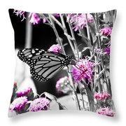 Lavender Flowers Throw Pillow