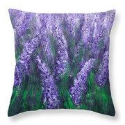 Lavender Garden II Throw Pillow