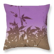 Purple Haiku Throw Pillow