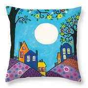 Lavender Hills Throw Pillow