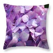 Lavender Hydrangea Throw Pillow