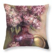 Lavender Hydrangeas Throw Pillow