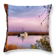 Lavender Light Reflections Throw Pillow