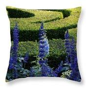 Lavender Maze Throw Pillow