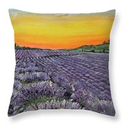 Lavender Oasis Throw Pillow
