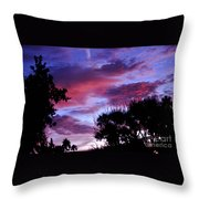 Lavender Pink And Blue Sunrise Throw Pillow