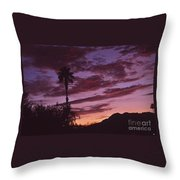 Lavender Red And Gold Sunrise Throw Pillow