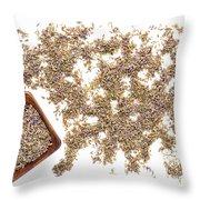Lavender Seeds Throw Pillow