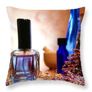 Lavender Shop Throw Pillow by Olivier Le Queinec