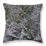 Lavender Silver Lining Throw Pillow