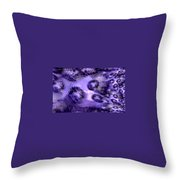 Lavender Water Abstract Throw Pillow