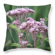 Lavender Wildflower Throw Pillow