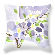 Lavender With Missouri Dogwood In The Window Throw Pillow