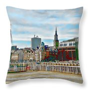 Law Courts Newcastle Upon Tyne Throw Pillow