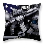 Law Enforcement Tactical Police Throw Pillow