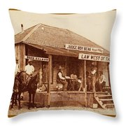 Law West Of The Pecos Throw Pillow