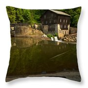 Lawrence County Grist Mill Throw Pillow