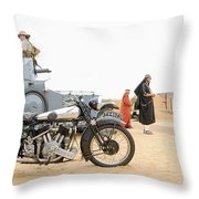 Lawrence Of Arabia Display At The Goodwood Revival Meeting Throw Pillow