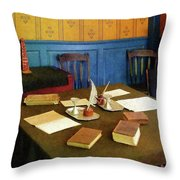 Lawyer - 19th Century Lawyer's Office Throw Pillow