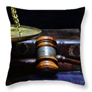 Lawyer - Books Of Justice Throw Pillow