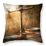 Lawyer - Scale - Balanced Law Throw Pillow