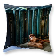 Lawyer - The Code Of Criminal Justice Throw Pillow