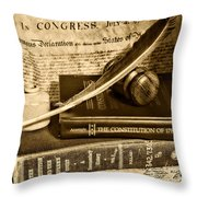 Lawyer - The Constitutional Lawyer In Black And White Throw Pillow