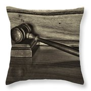 Lawyer - The Gavel Throw Pillow by Paul Ward