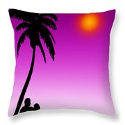 Lay Down Here Beside Me Throw Pillow