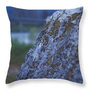 Lay On My Hidden Rock Throw Pillow