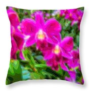 Layer Cut Out Art Flower Orchid Throw Pillow