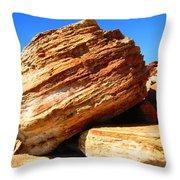 Layered Broome Rock Throw Pillow