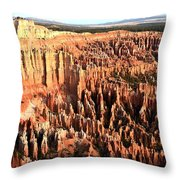 Layered Hoodoos At Bryce Canyon National Park Throw Pillow