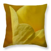 Layered In Yellow Throw Pillow