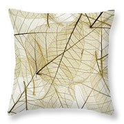 Layered Leaves Throw Pillow