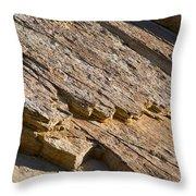 Layered Rock Throw Pillow